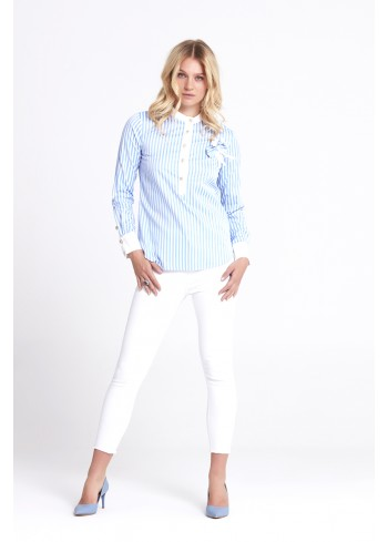 Blue Striped Blouse