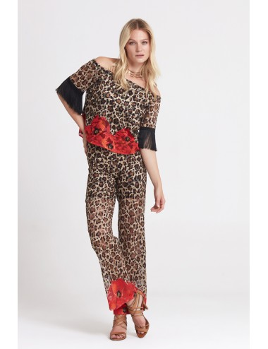 Leopard Pants Suit