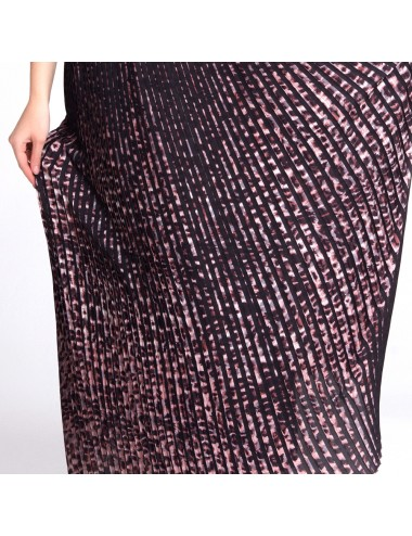 Long Pleated Skirt - Pink -