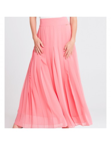 Long Pink Pleated Skirt