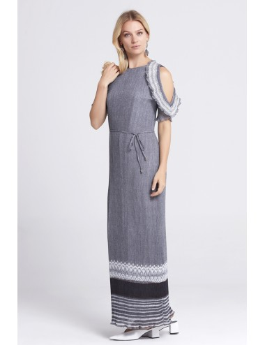 Gray Long Dress