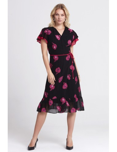 Fuchsia Floral Dress