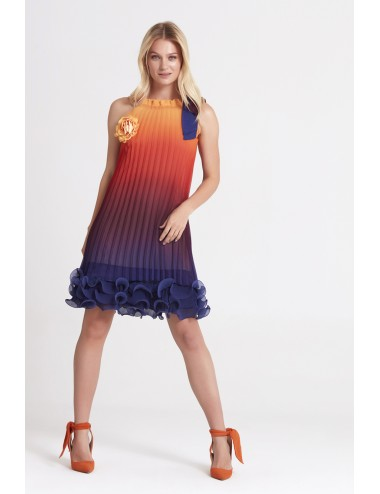 Orange Short Summer Dress
