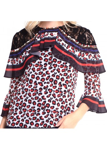 Leopard Blouse - Red